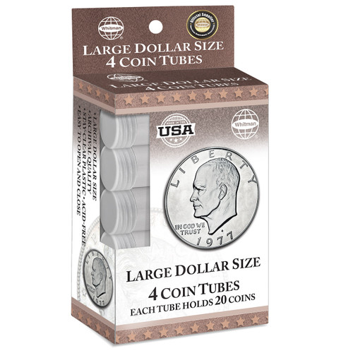Large Dollar Coin Tubes (4 Count)
