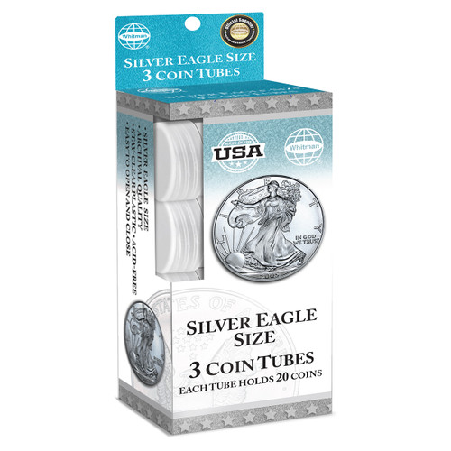 Silver Eagle Coin Tubes (3 Count)