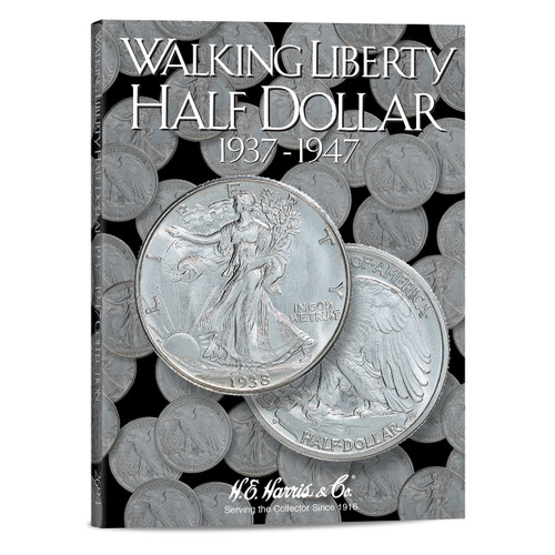 Liberty Walking Half Dollars #2 Folder 1937-1947