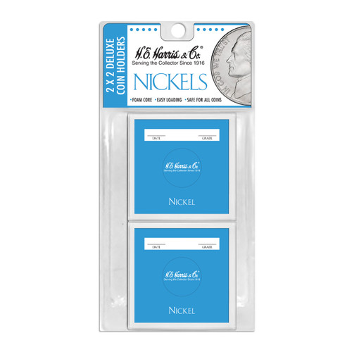 2X2 Color Coded Holder Nickel-6 Per Blister Pack