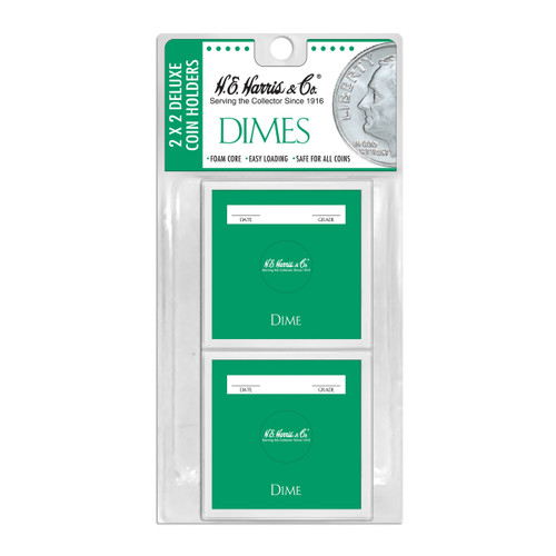 2X2 Color Coded Holder Dime-6 Per Blister Pack