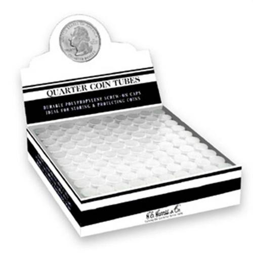 Quarter Coin Tubes Polypropylene  (100 Count)