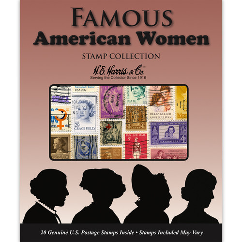 Famous American Women Stamp Packet (20 ct)