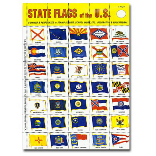 US, State Seal Flags