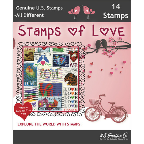 Stamps of Love Collection US Stamp Packet (14 ct)