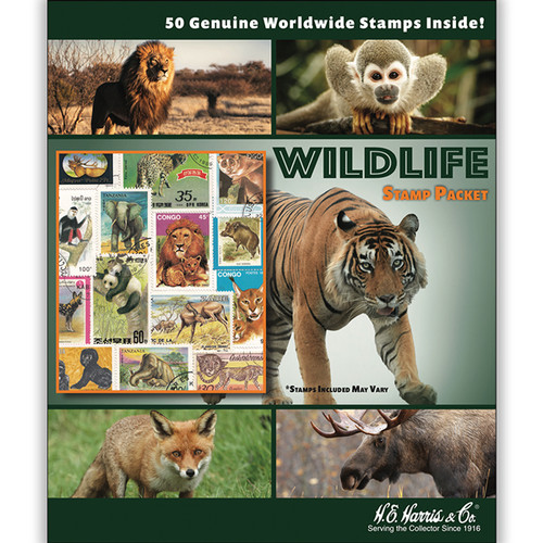Wildlife WW Stamp Collection Packet (50 ct)