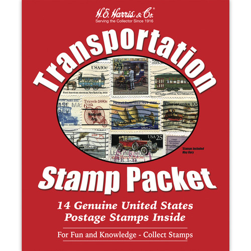 Transportation US Stamp Collection Packet (14 ct)