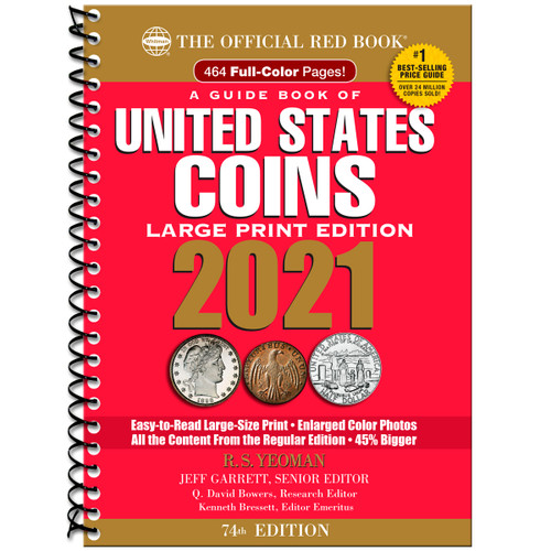 A Guide Book of United States Coins Large Print 2021