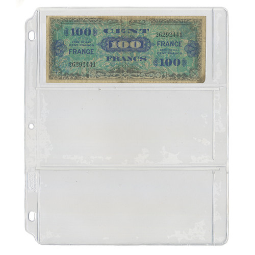 3 Pocket Mylar Currency Sheet