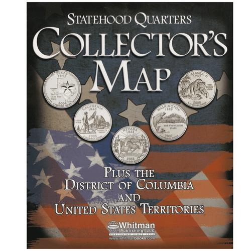 Statehood Quarters Map Oversized Folder