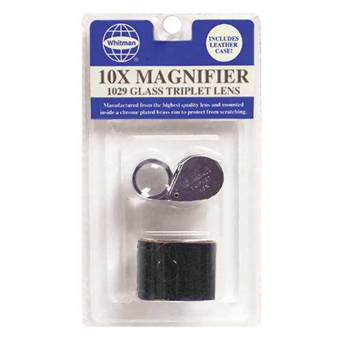 1029 Glass 10X Triplet Lens Magnifier - Blister Pack