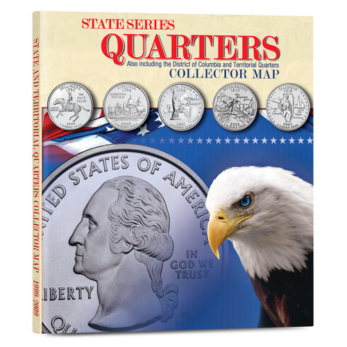 State Series Quarters Collector's Map - Foam