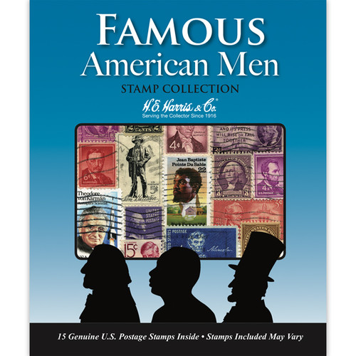 Famous American Men Stamp Collection (15 ct)
