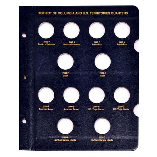 Album Page for D.C. and Territories Quarters P and D Mints