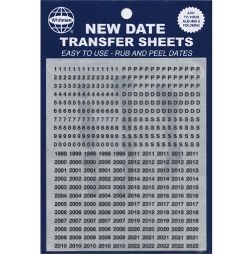 Date Transfer Sheet for Whitman Folders/Albums - Black