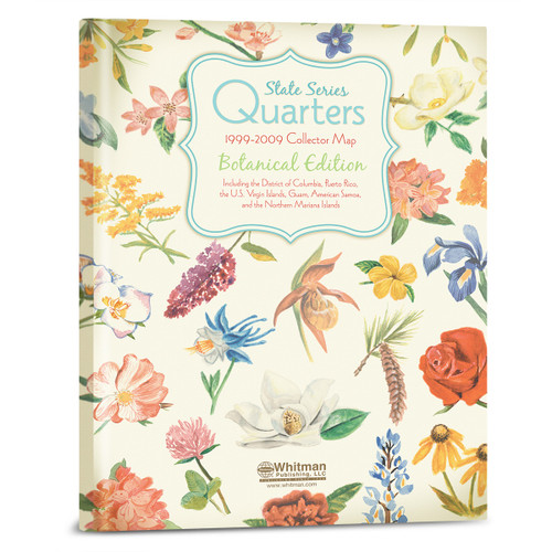 State Series Quarters 1999-2009 Collector Map-Botanical Edition