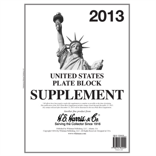 2013 Plate Block Supplement