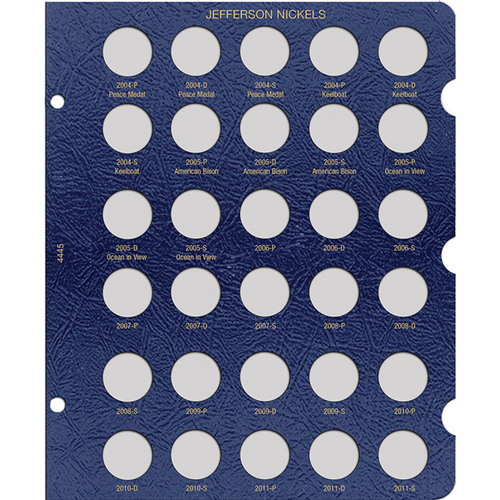 Jefferson Dated Nickel Page, 2004-2011 (30 openings)