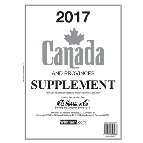 2017 Canada Stamp Supplement