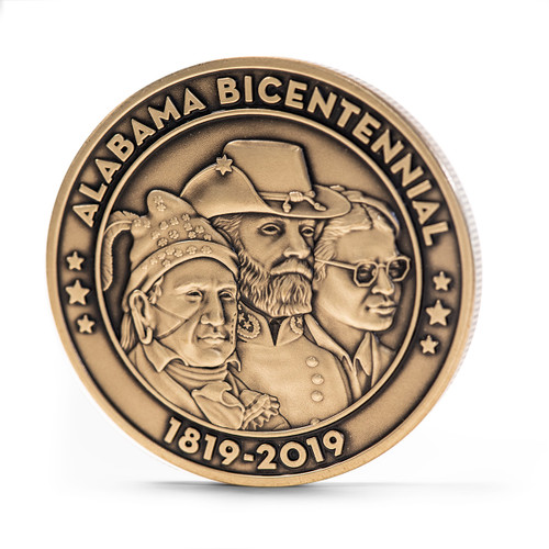 Alabama Bicentennial Alabama History Commemorative Coin - Bronze obverse