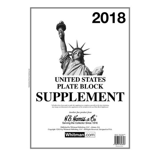 2018 Plate Block Stamp Supplement