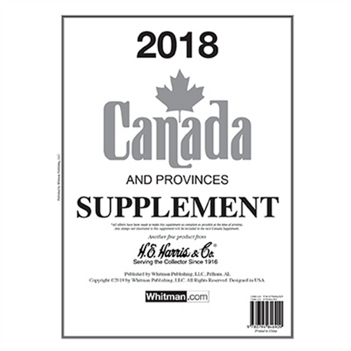 2018 Canada Stamp Supplement