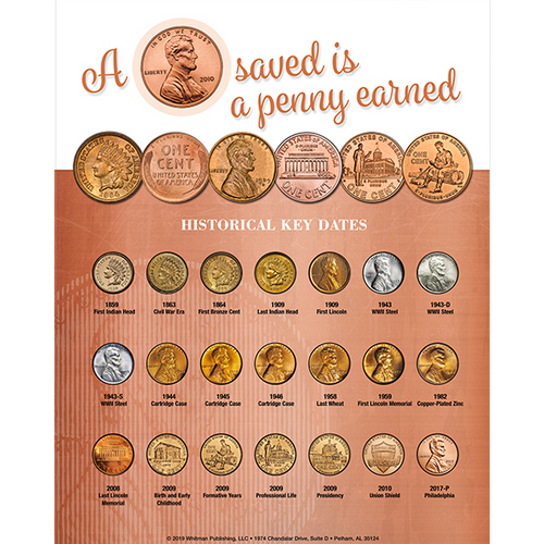 Whitman Deluxe Cent Coin Board: A Penny Saved is a Penny Earned