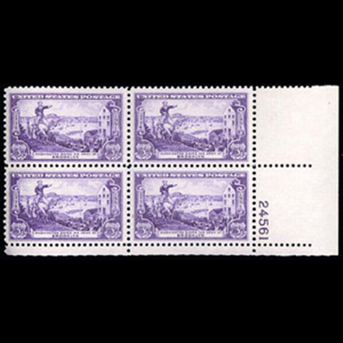 1951 3c Battle of Brooklyn Plate Block