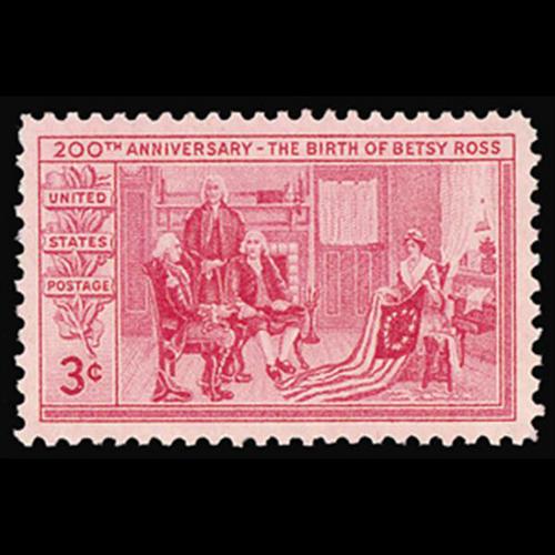 1952 3c Betsy Ross Mint Single