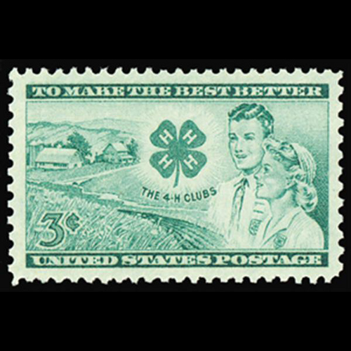 1952 3c 4-H Club Mint Single