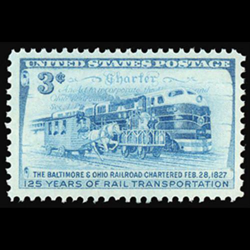 1952 3c B & O Railroad Mint Single