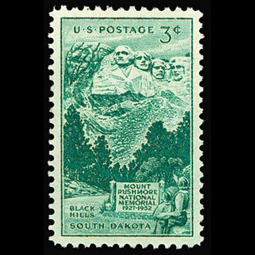 1952 3c Mt. Rushmore Mint Single