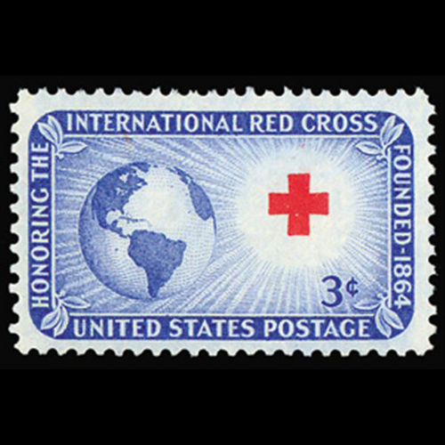 1952 3c Red Cross Mint Single