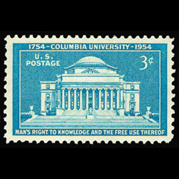 1954 3c Columbia University Mint Single
