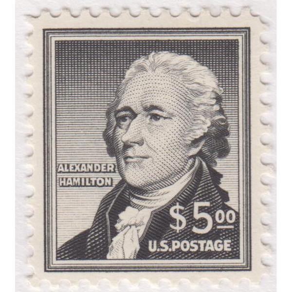 1956 $5 Hamilton, FVF Never Hinged