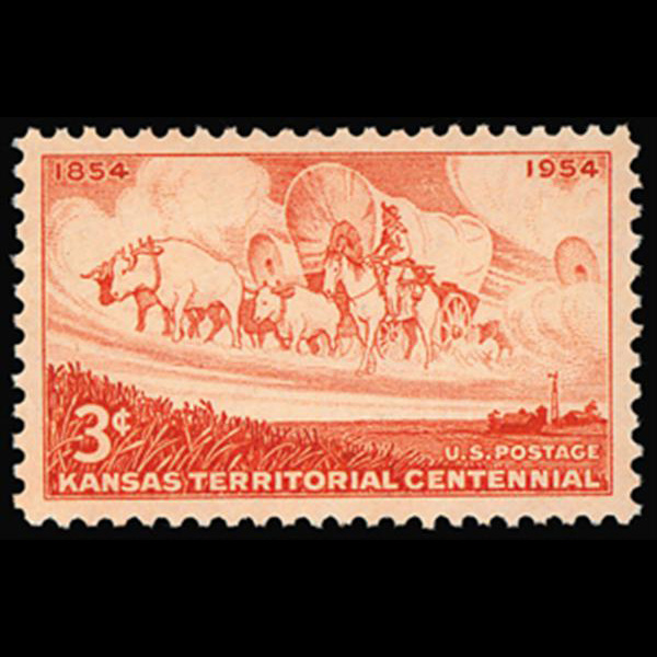 1954 3c Kansas Territory Mint Single