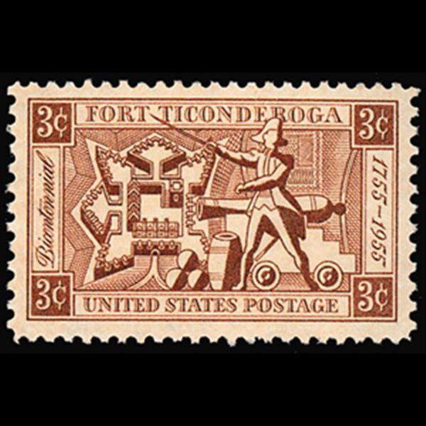 1955 3c Fort Ticonderoga Mint Single