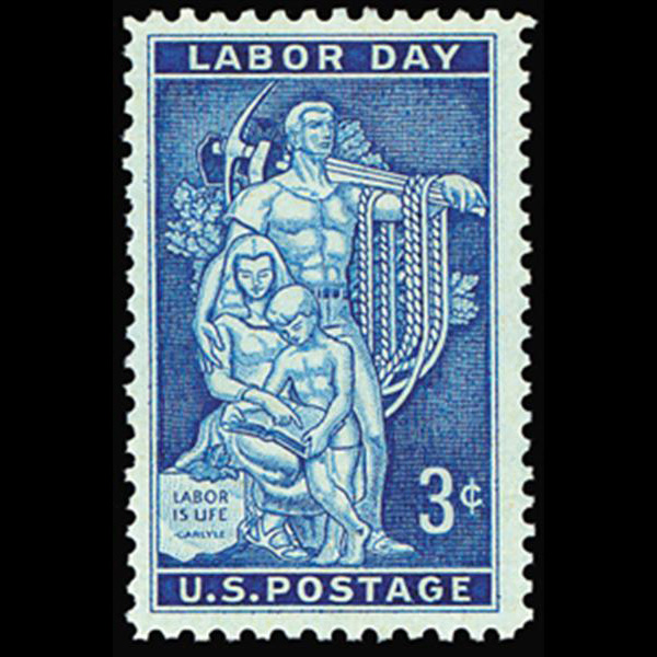 1956 3c Labor Day Mint Single