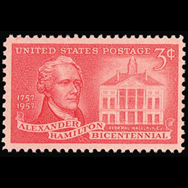 1957 3c Alexander Hamilton Mint Single
