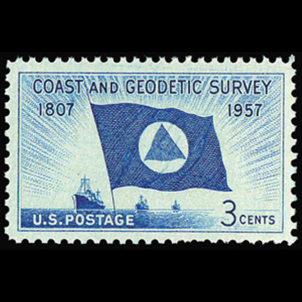 1957 3c Coast & Geodetic Survey Mint Single