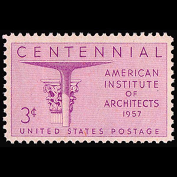 1957 3c Architects Mint Single