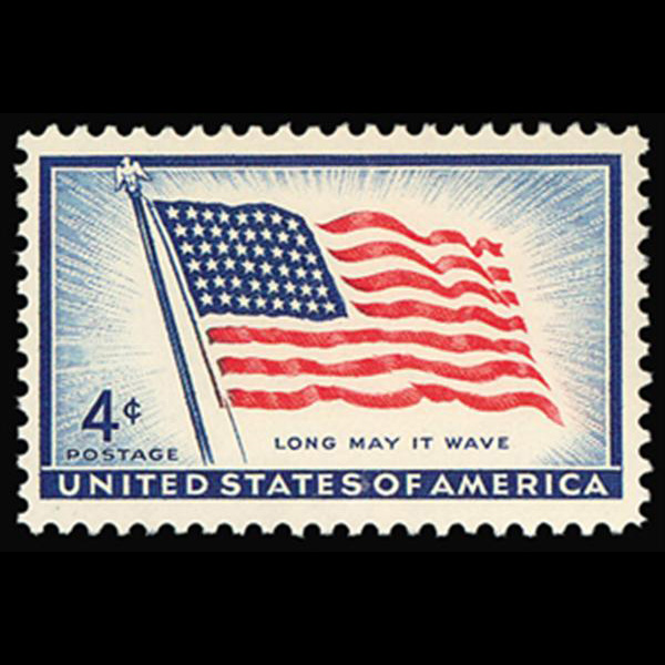 1957 4c 48-Star Flag Mint Single