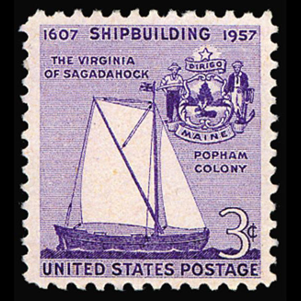 1957 3c Shipbuilding Anniversary Mint Single
