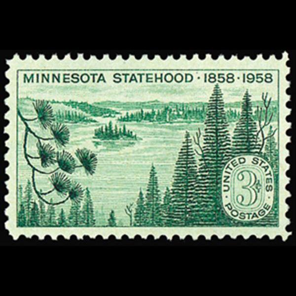 1958 3c Minnesota Statehood Mint Single