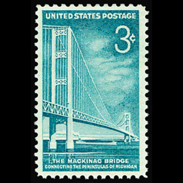 1958 3c Mackinac Bridge Mint Single