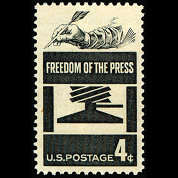 1958 4c Freedom of Press Mint Single