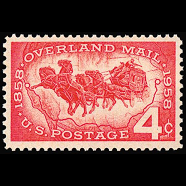 1958 4c Overland Mail Mint Single