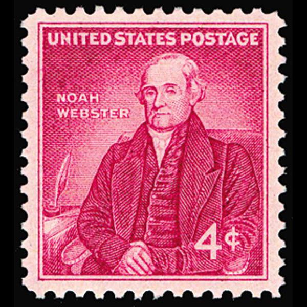 1958 4c Noah Webster Mint Single