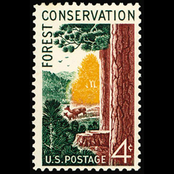 1958 4c Forest Conservation Mint Single