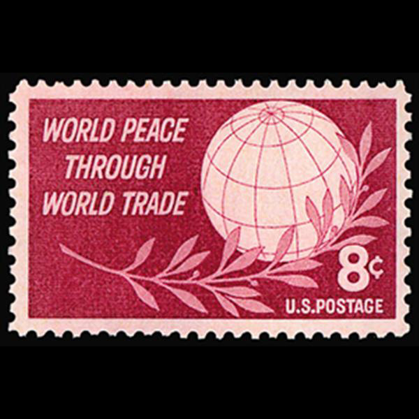 1959 4c World Peace & Trade Mint Single